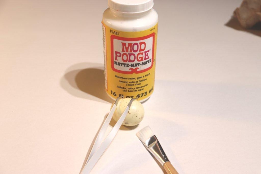 Egg and Mod Podge