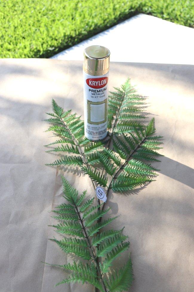DIY-wall-art-faux ferns