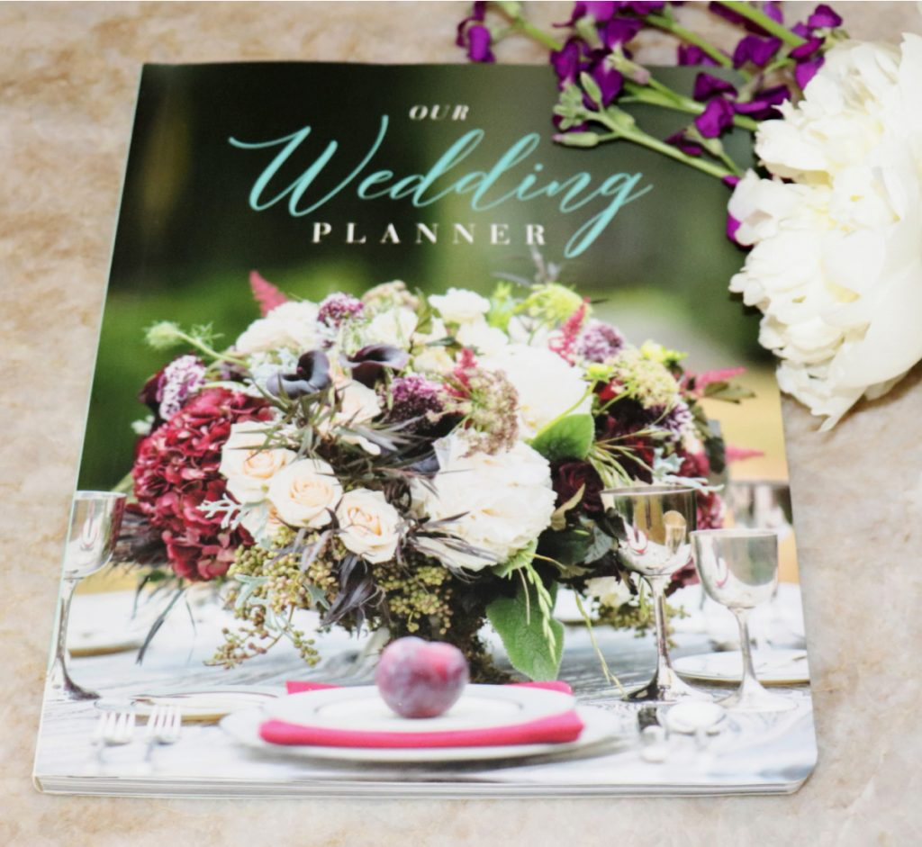 photo of a wedding planner book
