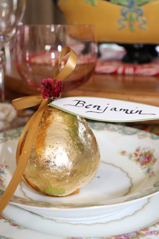 Gold Leaf, how to apply to make elegant place cards.